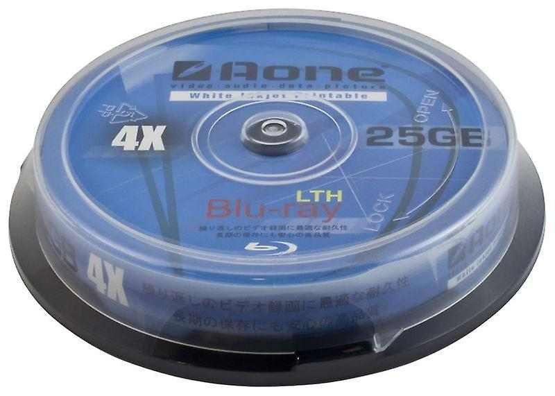 picture regarding Printable Blu Ray Discs identify Aone 4x Compose 25GB White Total Confront Printable Blu-Ray Blank Discs 10desktops Cake Box/Spindle BD-R (Bluray 10 Pack Bathtub)