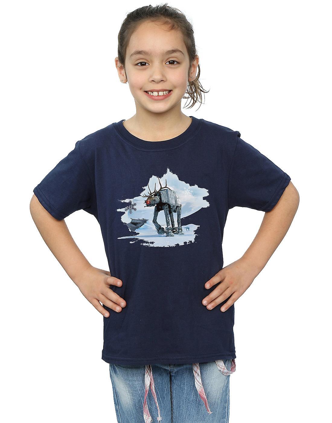 Star Wars T-Shirt für Mädchen Weihnachten AT-AT Rentier | Fruugo