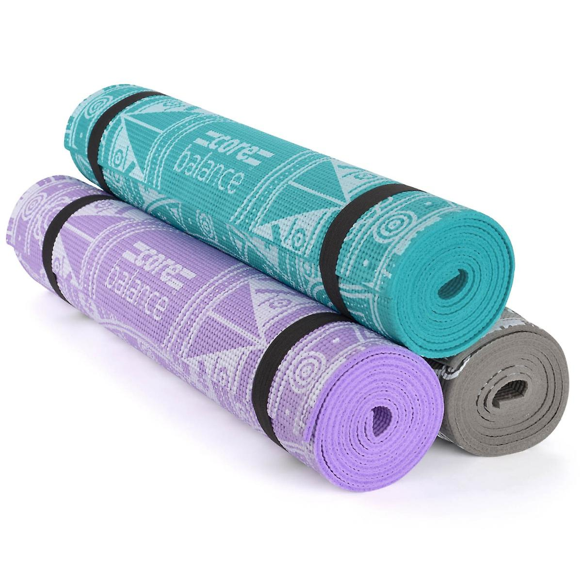 a9019d260e Roll Up Mandala Yoga Mat Pro Lightweight 6mm Foam Non Slip Pilates Gym  Physio