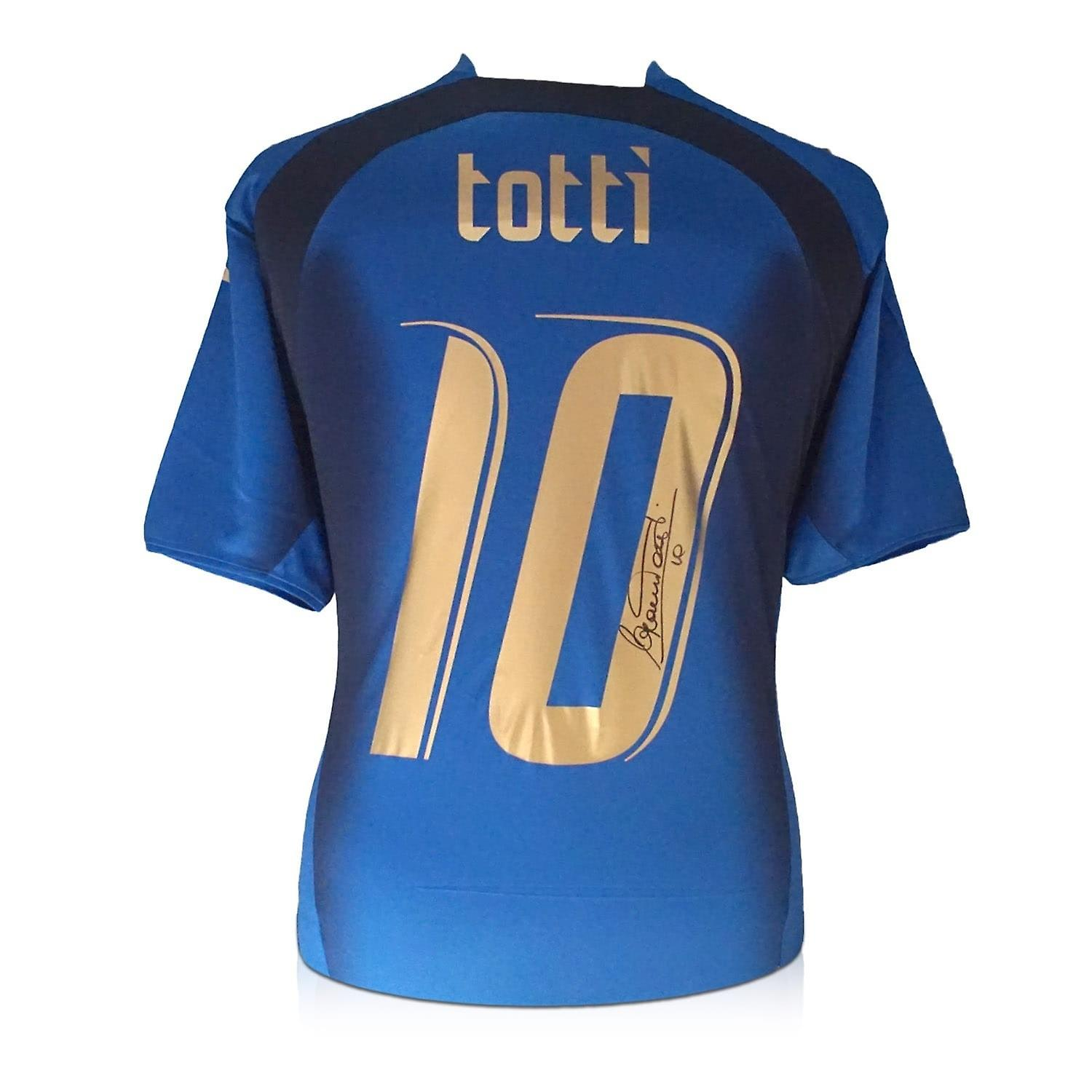 c3e629465 Francesco Totti Signed Italy 2006 World Cup Winners Football Shirt ...
