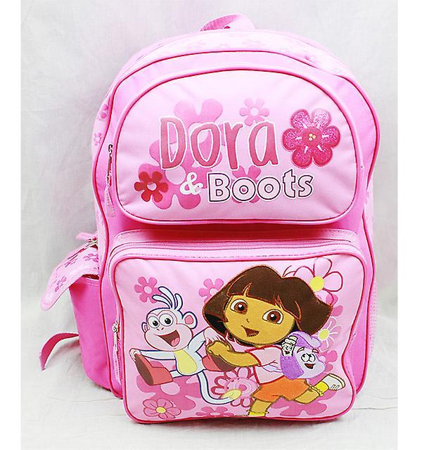Rygsæk Dora Explorer støvler pink (stor skoletaske) ny 81612