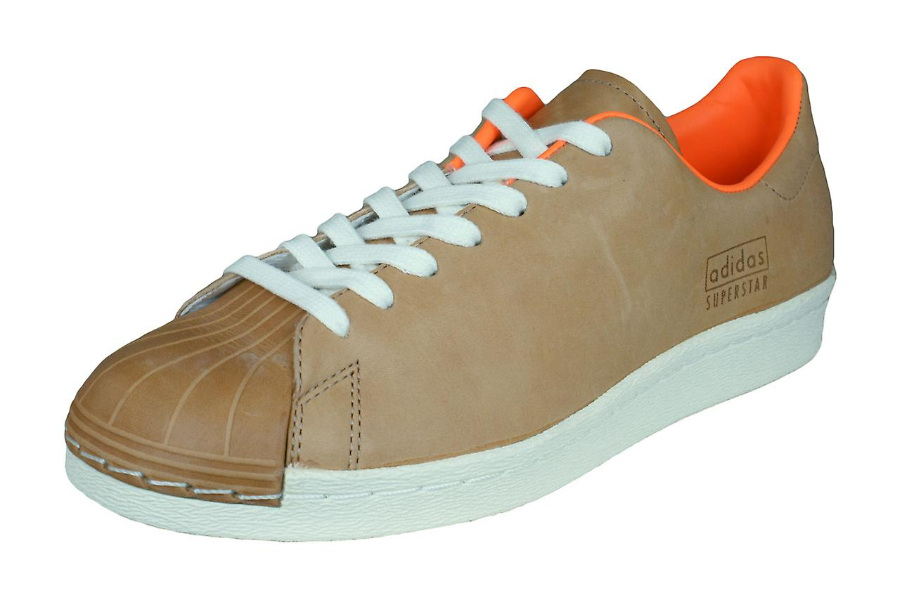 new arrival 29c75 75fae adidas Originals Superstar 80s Clean Mens Leather Trainers   Shoes - Brown
