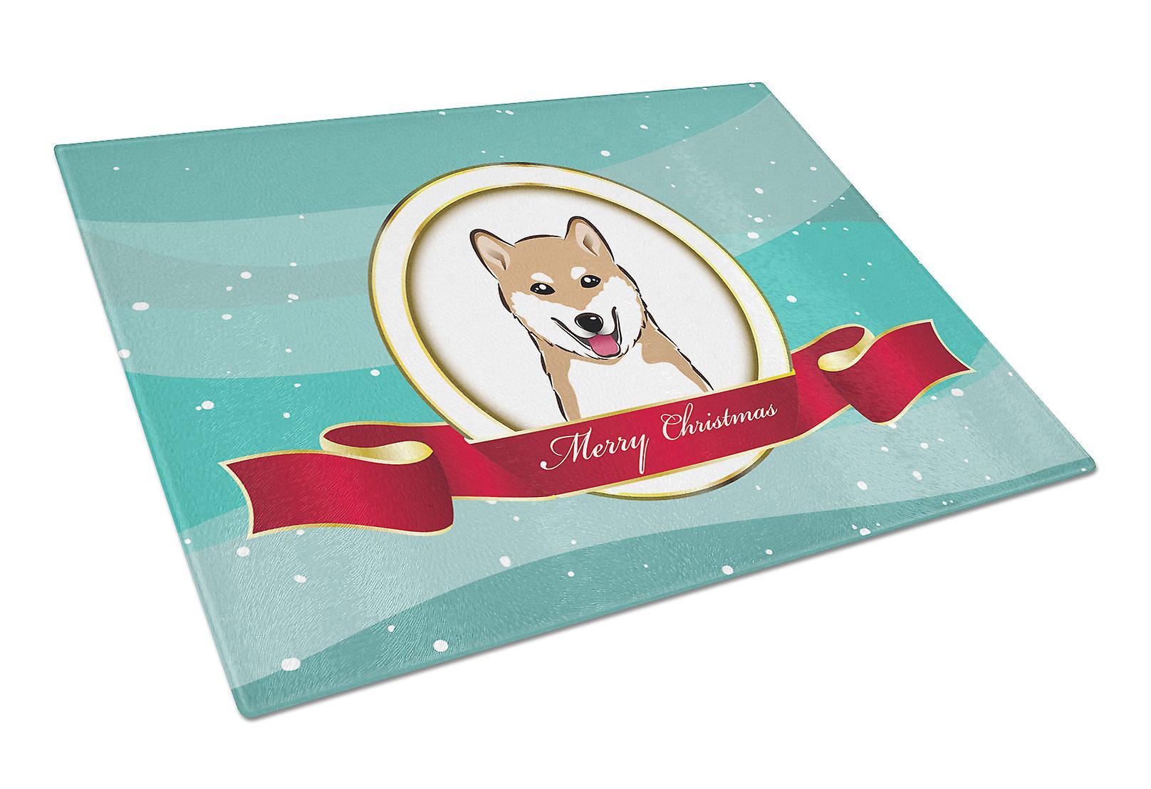 Shiba Inu Frohe Weihnachten Glas Schneidebrett groß | Fruugo