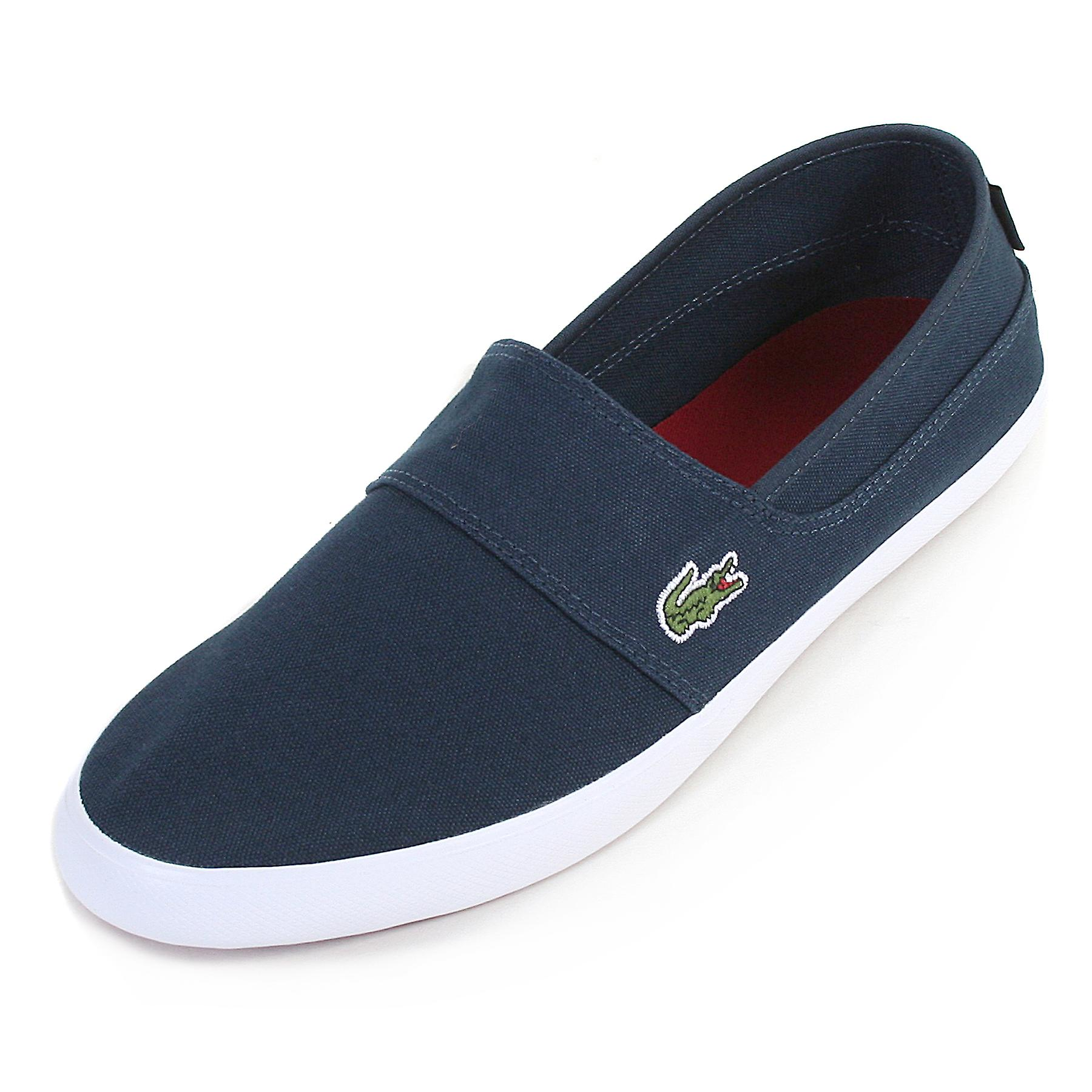 9bac1370fc4 Lacoste Men s Marice BL 2 Canvas Slip On Espadrille Navy