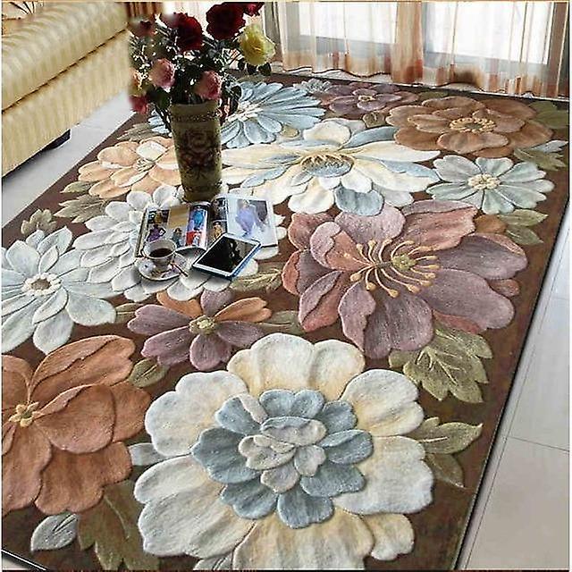 Wełniane Dywany Duże Rozmiary Dla Salon Salon Sypialnia Klasyczny Haft Sztuki Dywany Ozdoba Piętro Dywan Kwiatowy Dywan