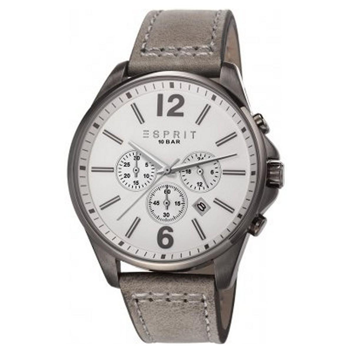 1332efa5503 ESPRIT heren horloge horloge Tallac lederen Chrono ES106921004   Fruugo