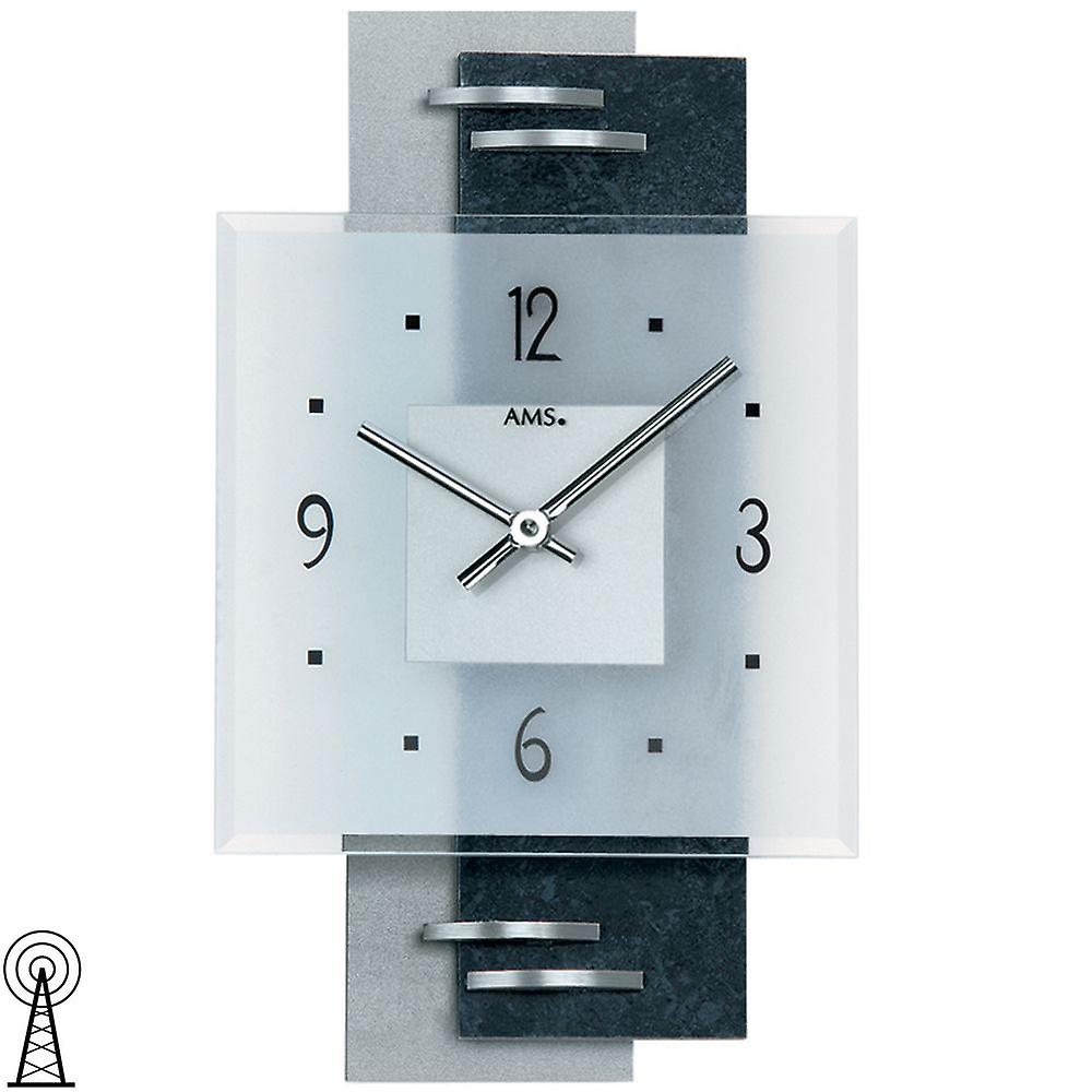 . Wall clock modern wall clock parts white with aluminium mineral glass