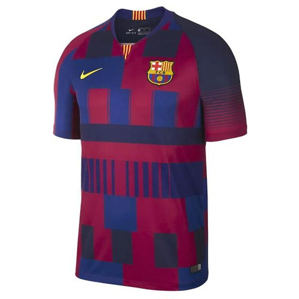 cheap for discount ce34f 34a4a 2018-2019 Barcelona Anniversary Nike Football Shirt