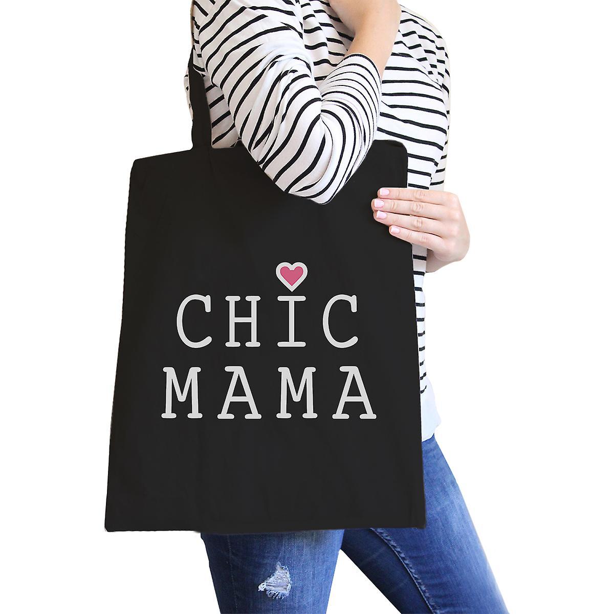 Chic Mama Zwarte Canvas School Tas Leuke Cadeau Ideeën Voor Moeder Te Worden