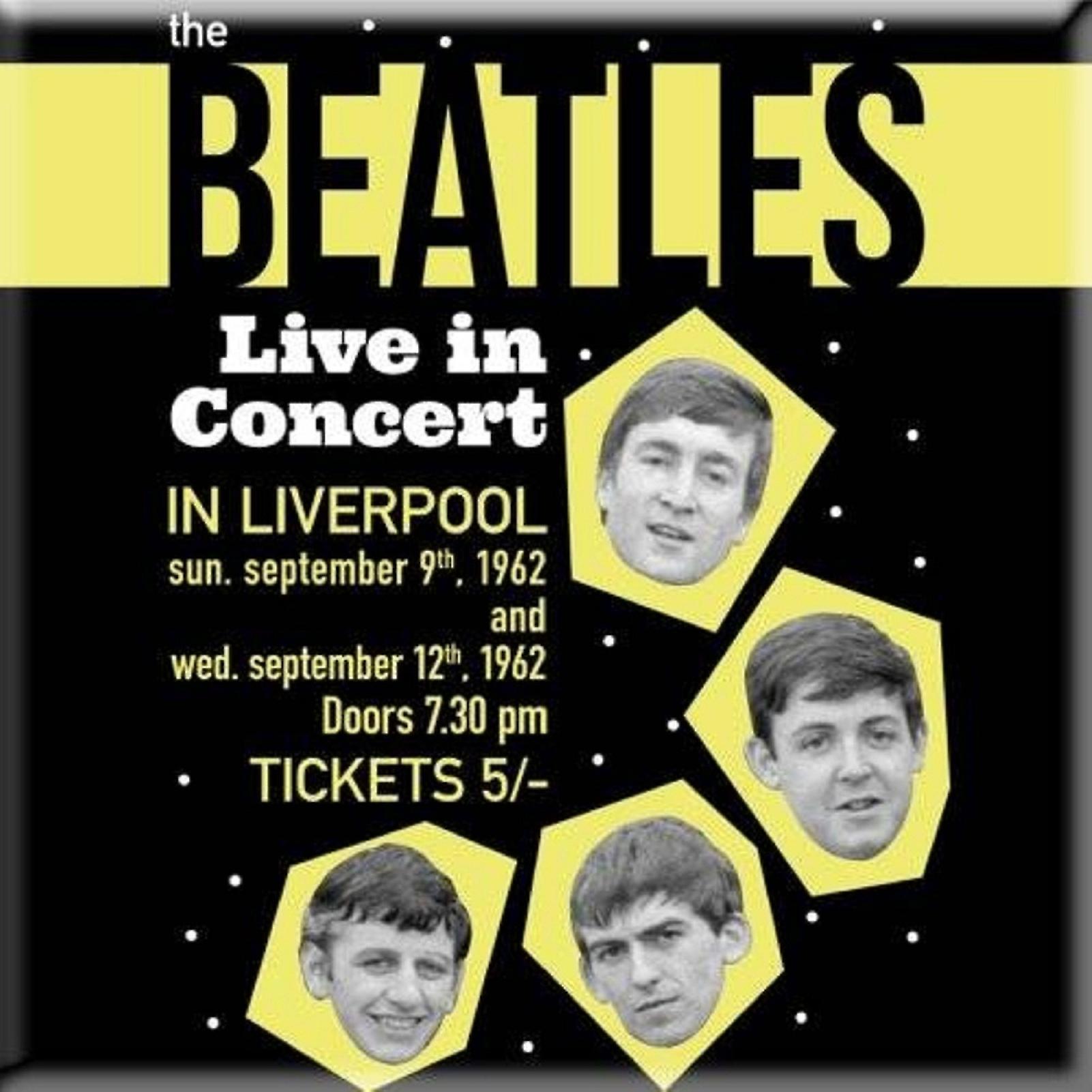 Beatles Lodówka Magnes Live W 1962 Roku Koncert Plakat Nowy Oficjalny 76 X 76 Mm