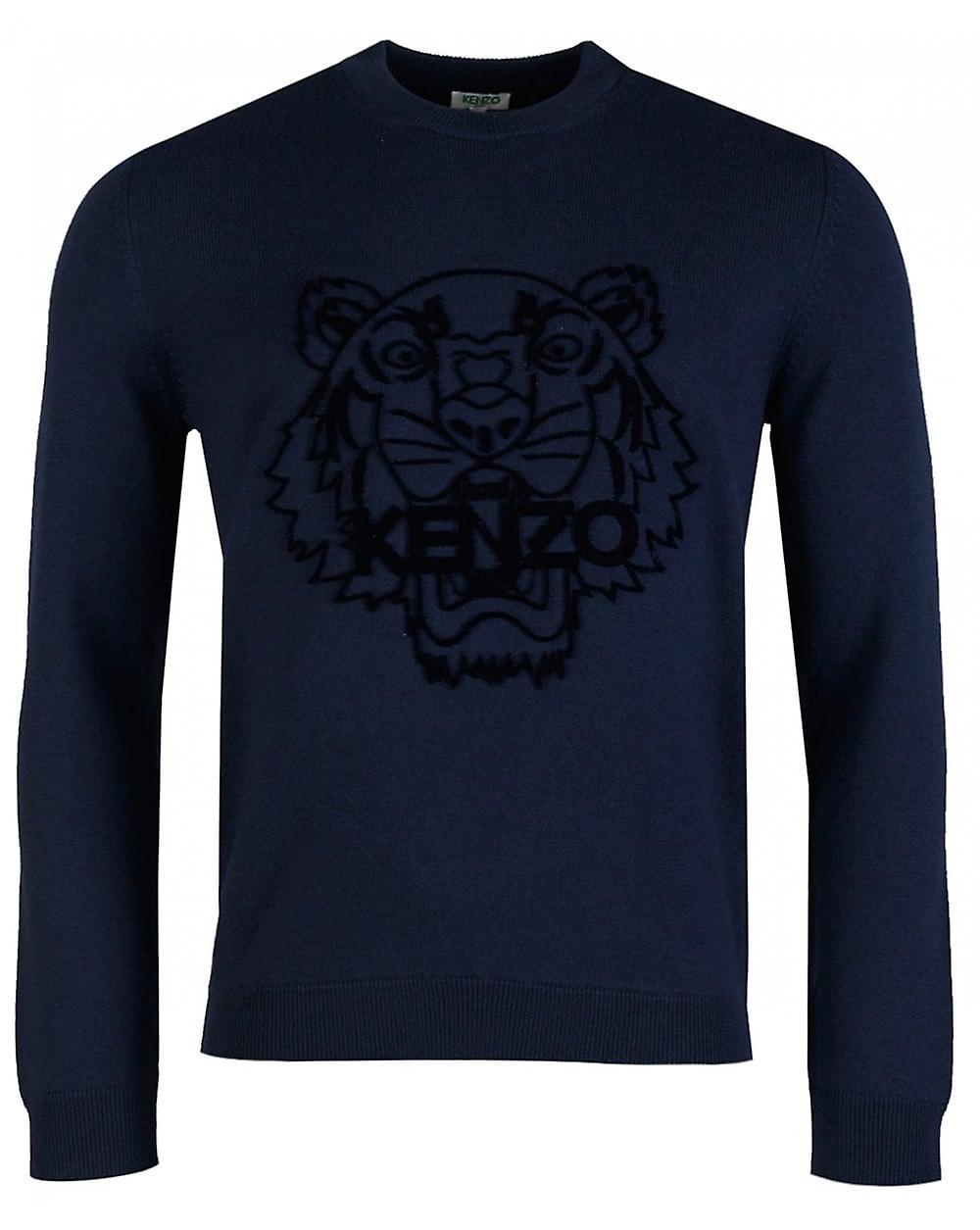 Kenzo broderad Tiger tröja