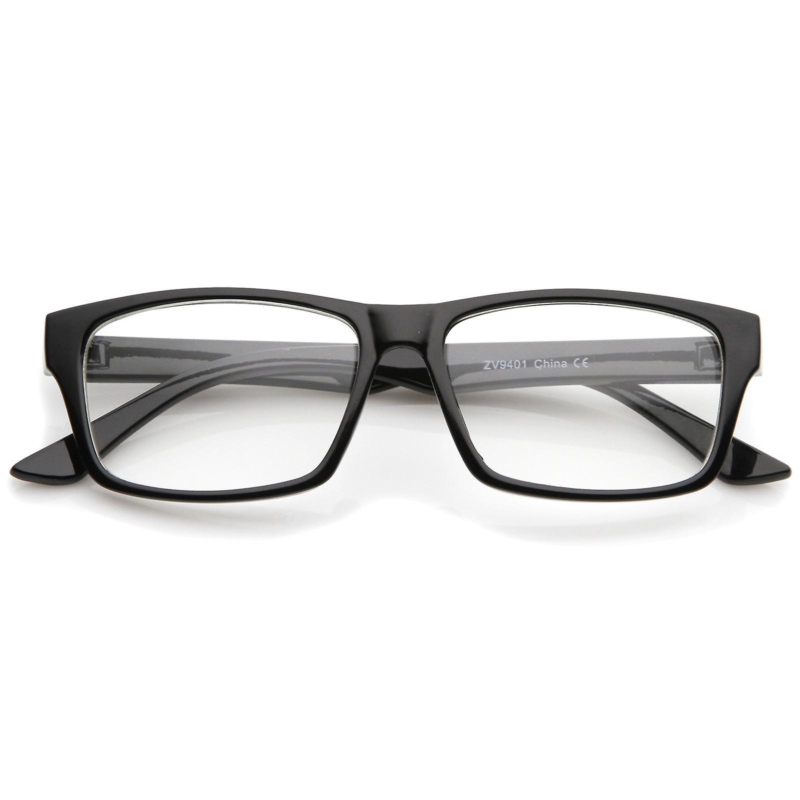 Moderna Horn kantad rektangel glasögon klar lins 52mm  d6cb9230de505