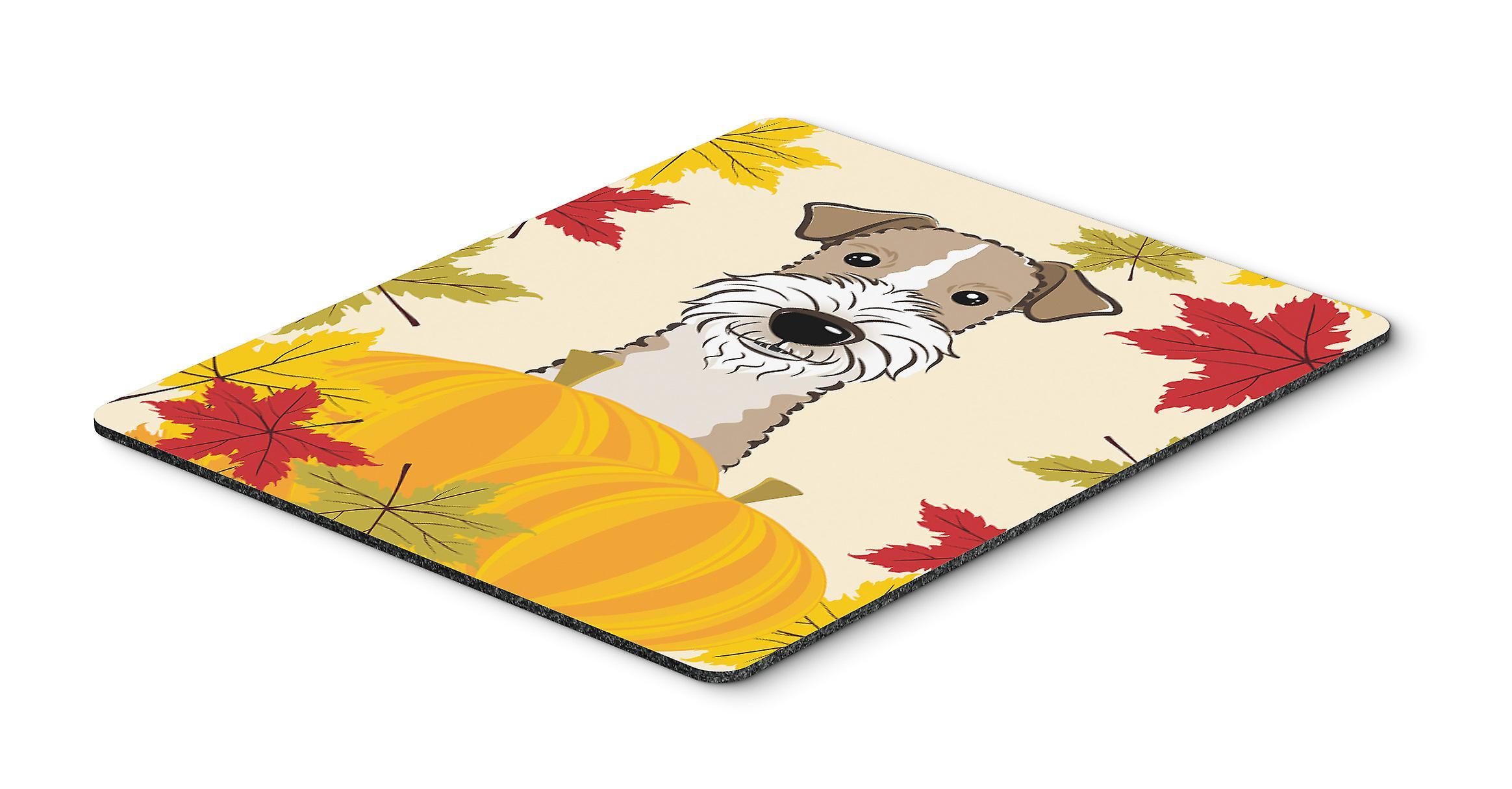 Draht-Haired Fox Terrier Thanksgiving Mauspad, Hot-Pad oder ...