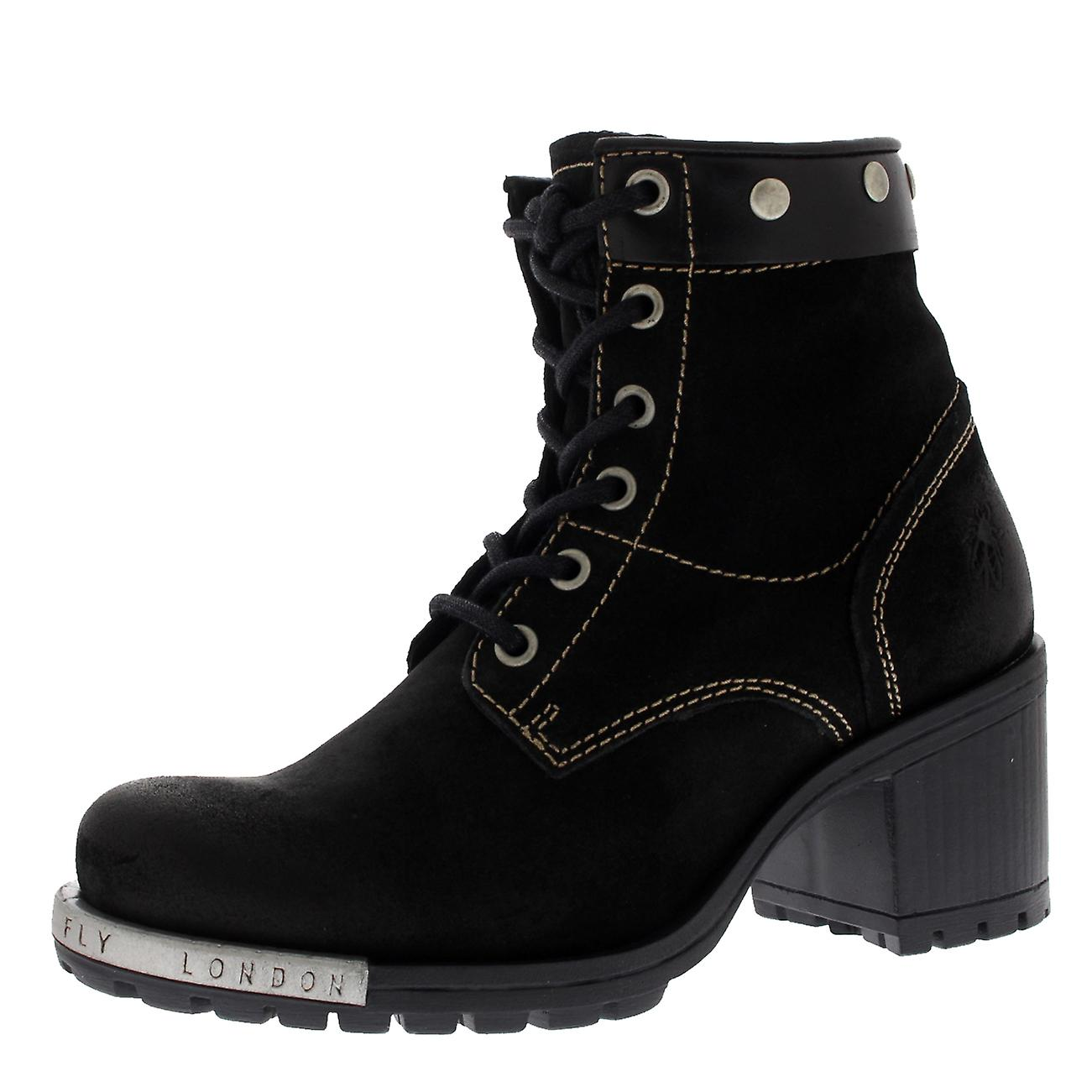 d2940d1990663 Womens Fly London Lito Suede Winter Mid Block Heel Lace Up Ankle Boots