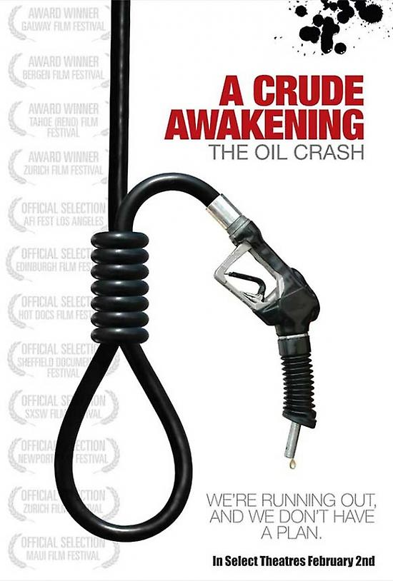 """a crude awakening paper """"a crude awakening in 2002, he read a briefing paper from an australian investment fund that explained the peak oil phenomenon, which the film deals with."""