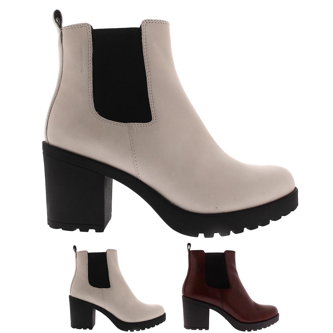 7386bbde63c3 Womens Vagabond Grace Block Heel Closed Toe Elastic Fashion Ankle Boots