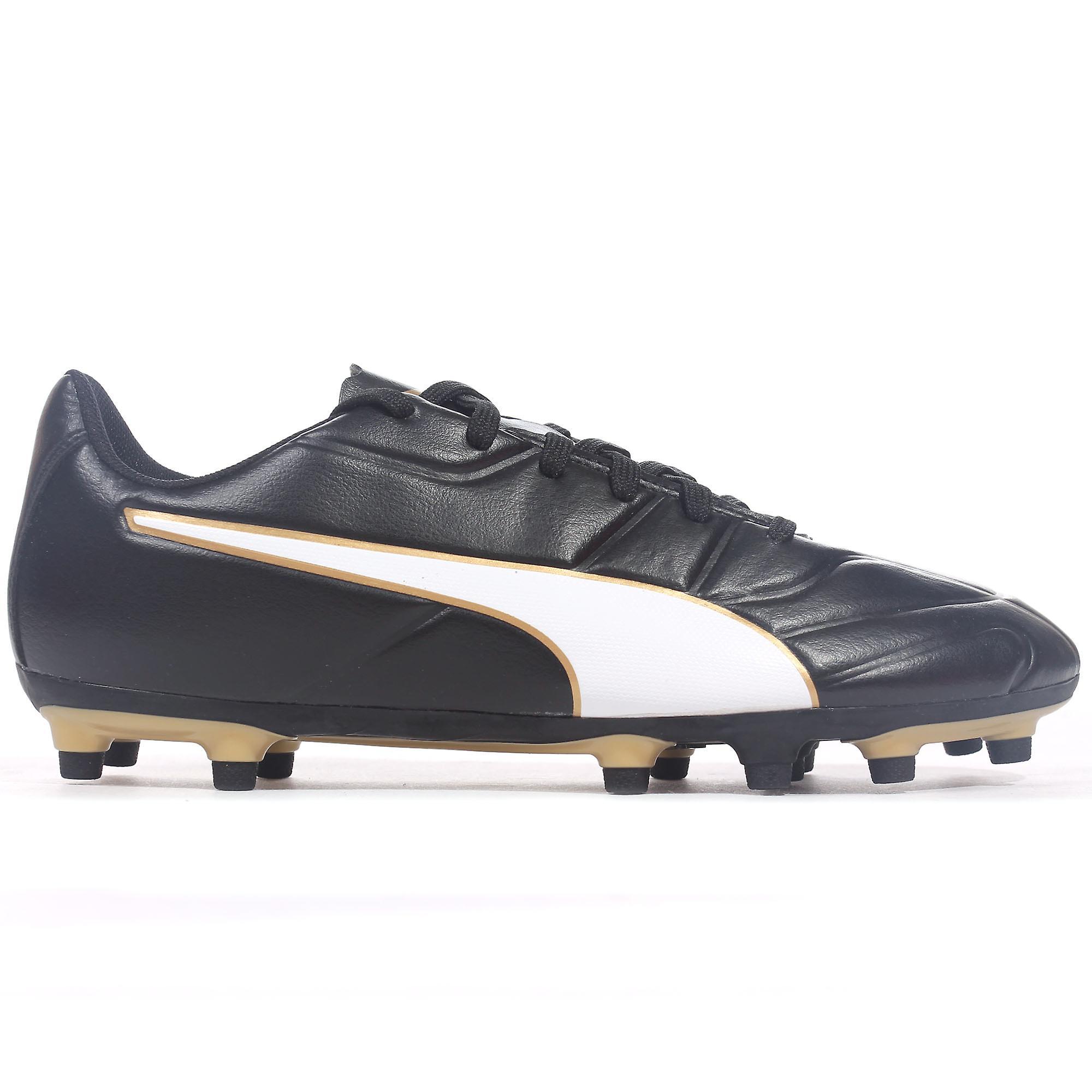 Puma Classico C II FG Firm Ground Mens Football Boot Shoe BlackGold