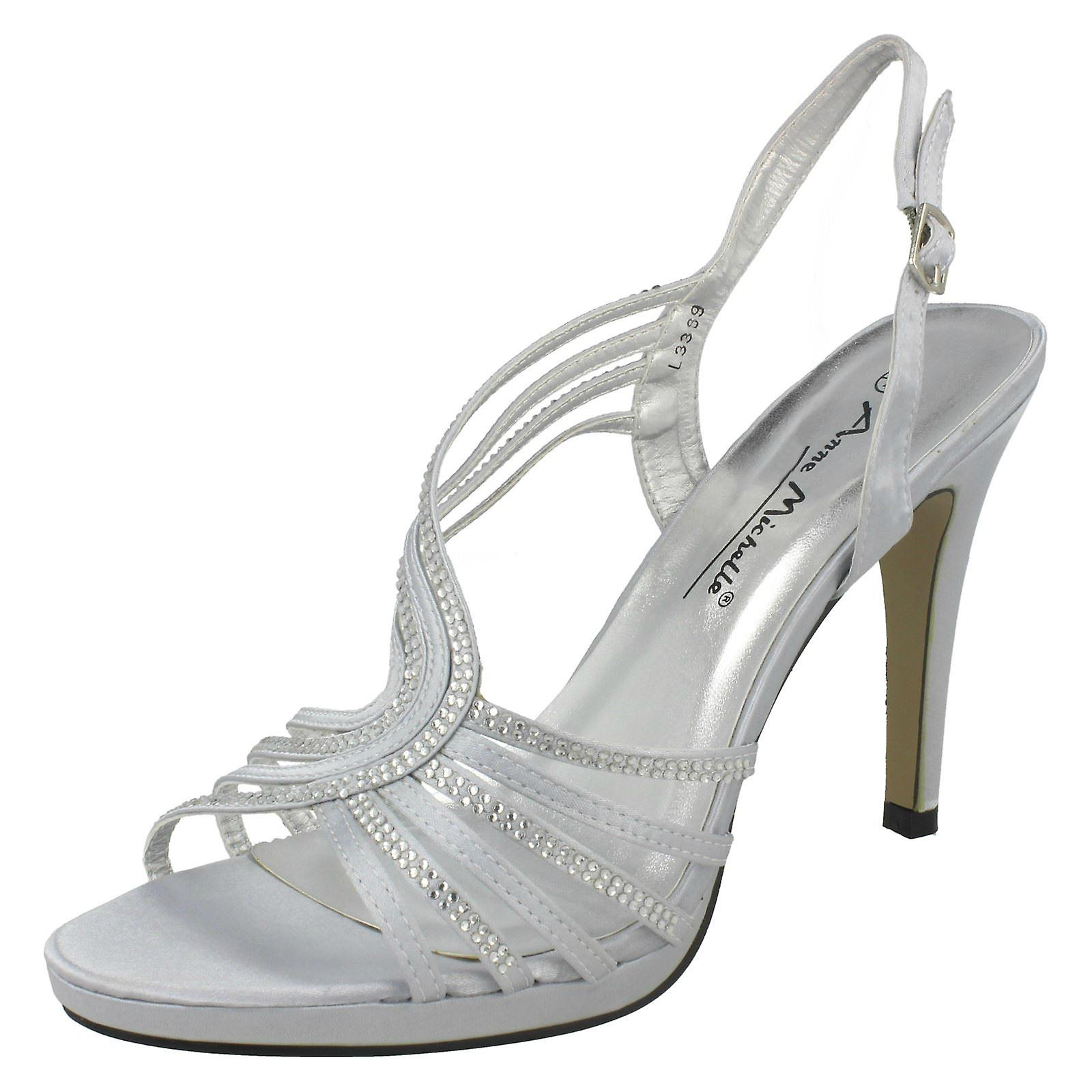 Ladies Sling Back Sandal with Diamante Trim