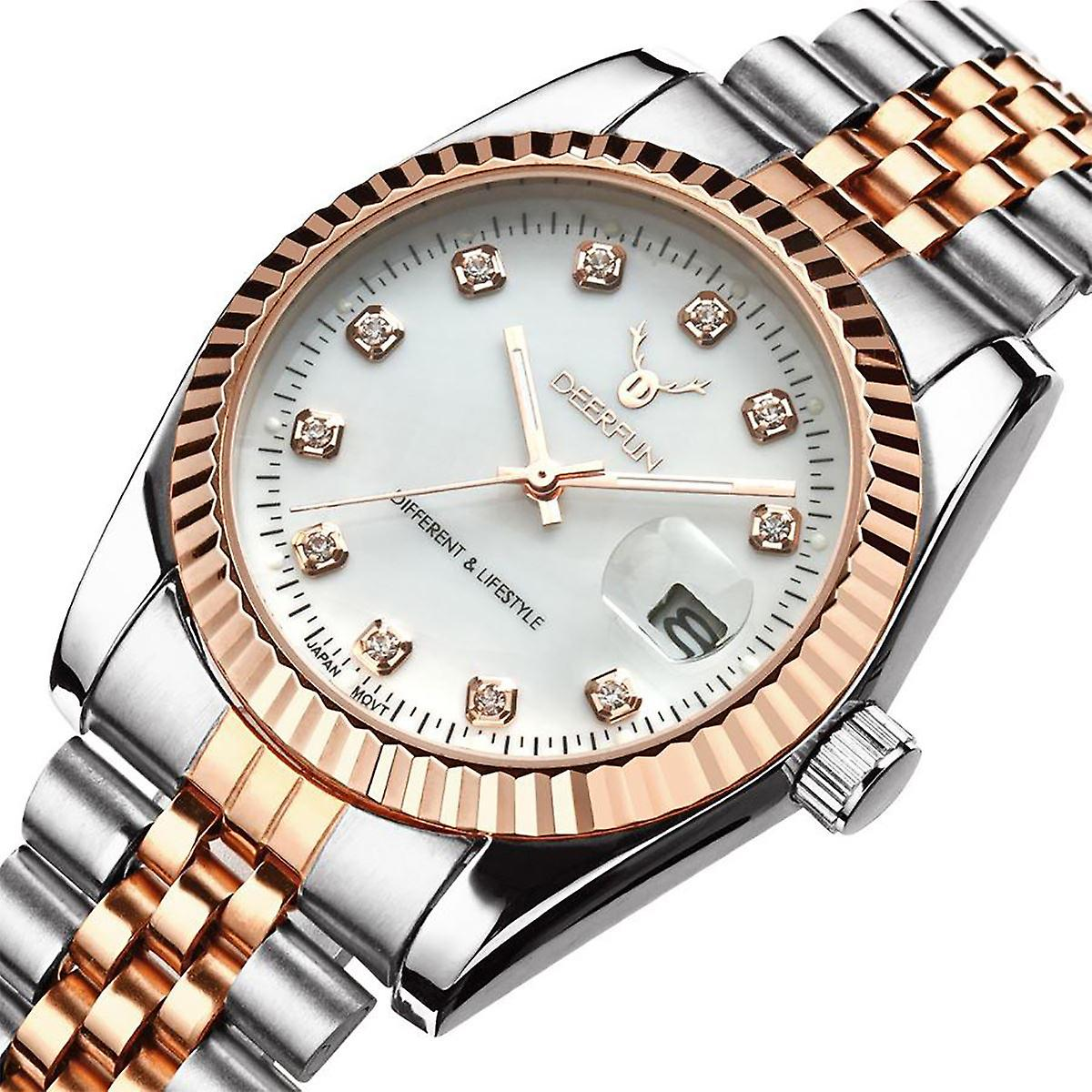 Ladies Watch Gold Silver Women Woman Smart Watches Two Tone Fruugo