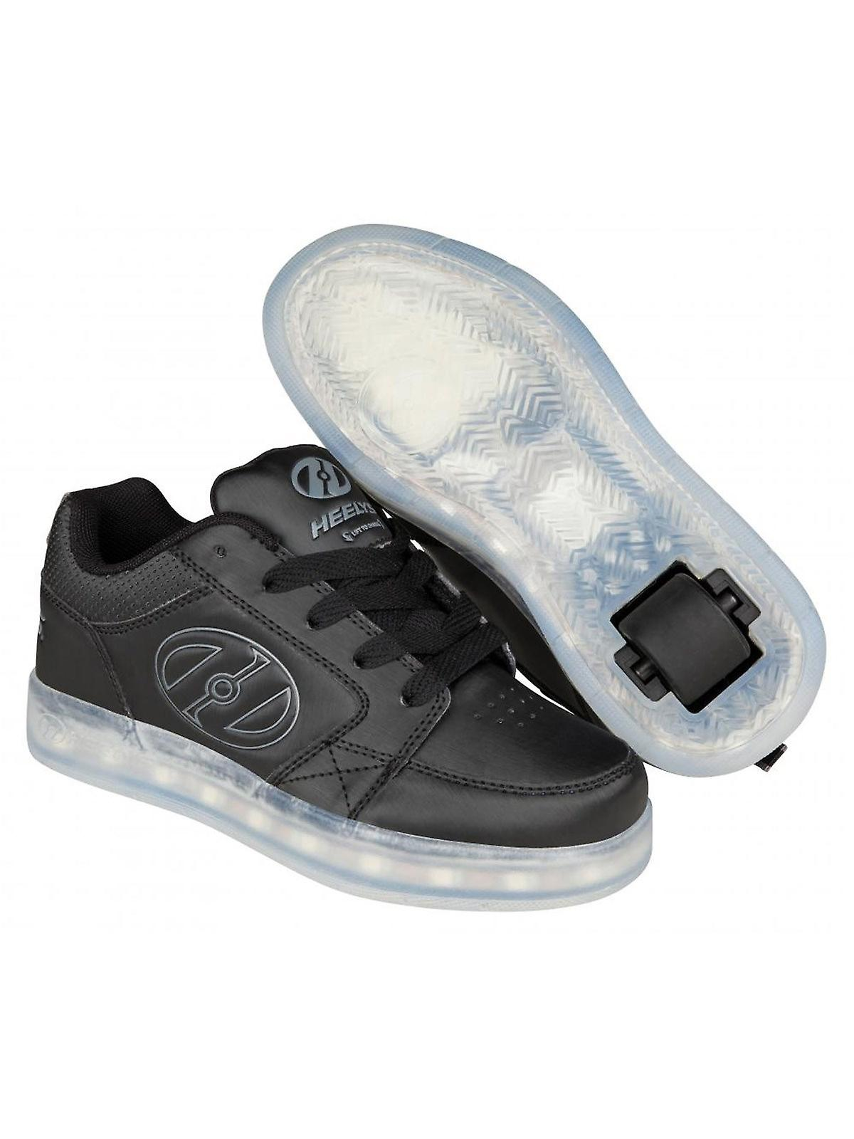 cheaper 87f99 9c596 Heelys Black-Grey Premium 2 Lo Kids One Wheel Shoe