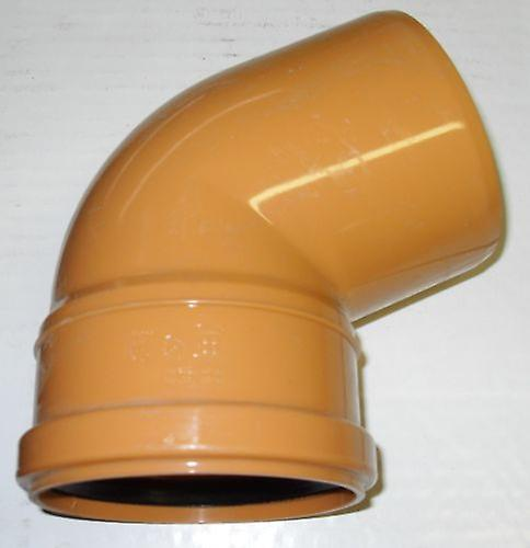 Soil Pipe 67 5 Degree Bend 110 mm Inlet - Push Fit - Brown - Underground -  Waste