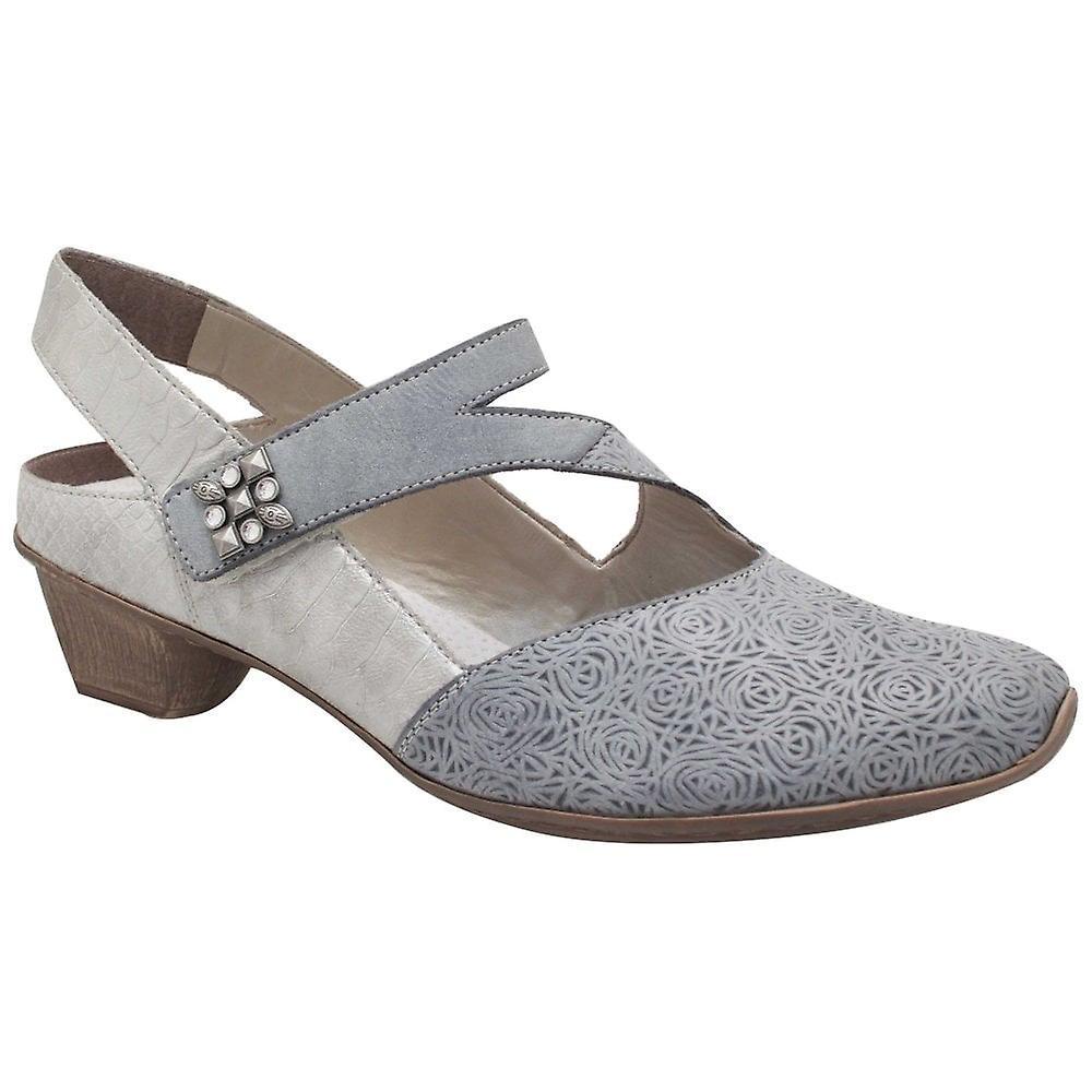 Rieker Blue Low Heel Strap Over Slingback Shoes | Fruugo N7BAJ