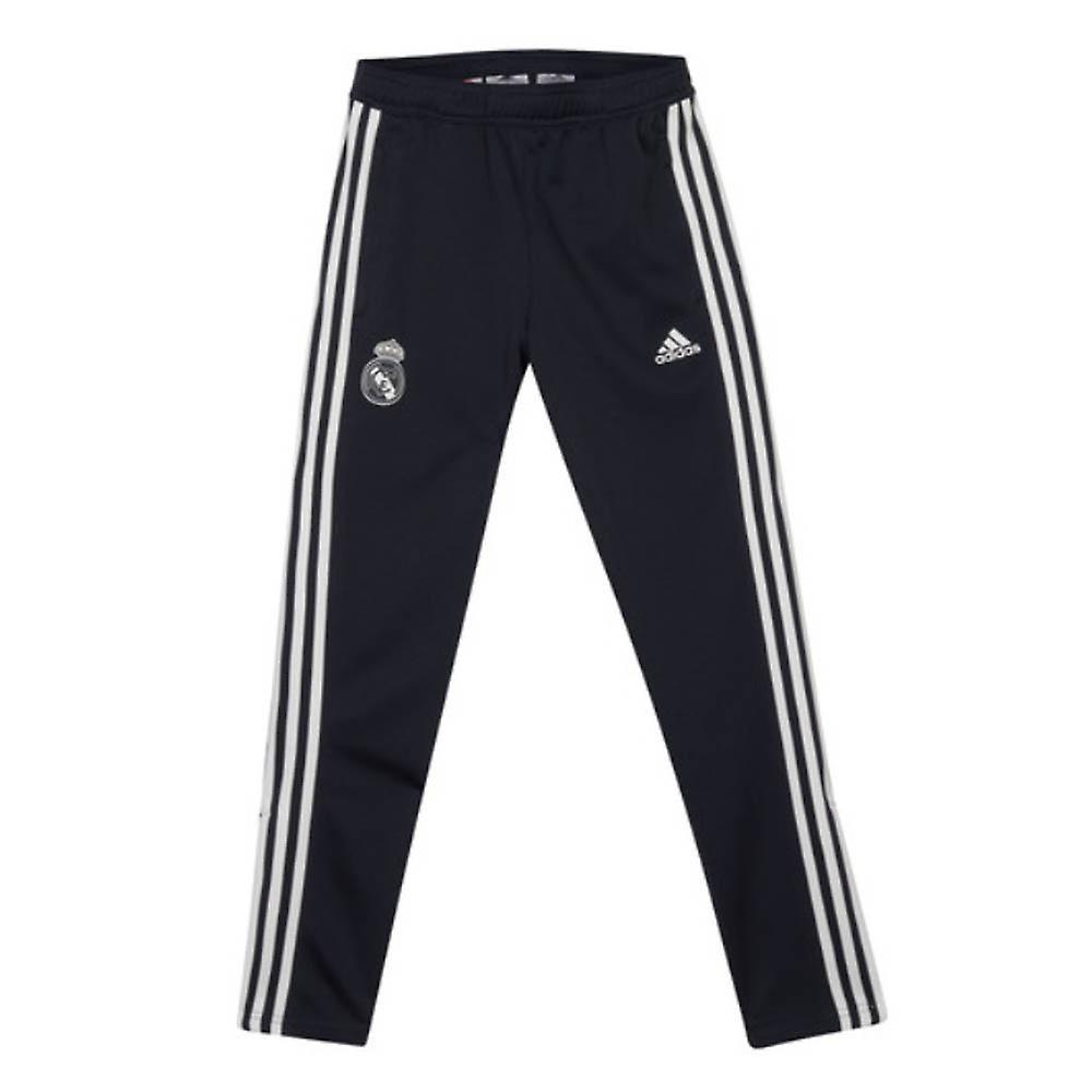 73933e99079cd 2018-2019 real Madrid Adidas entrenamiento pantalones (gris oscuro) - niños