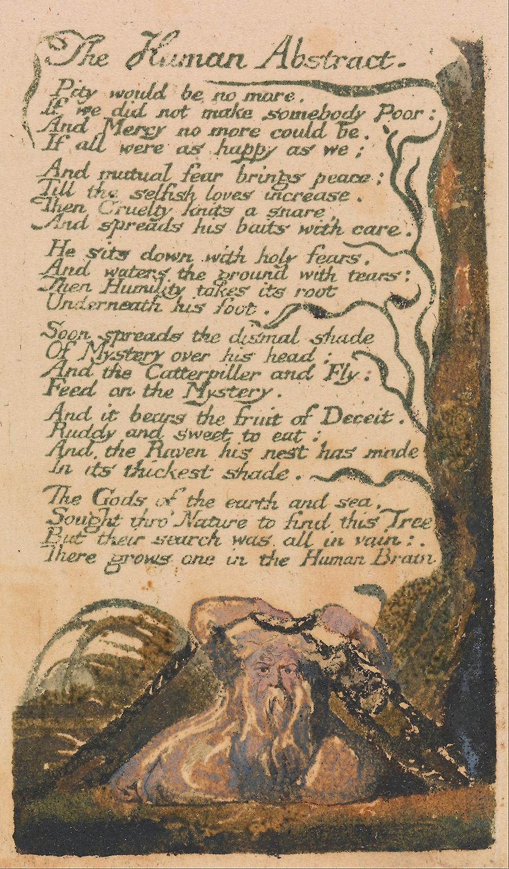 an overview of the romantic traits in the human abstract by william blake A divine image by william blake cruelty has a human heart and jealousy a human face terror the human form divine and secresy the human characteristics.