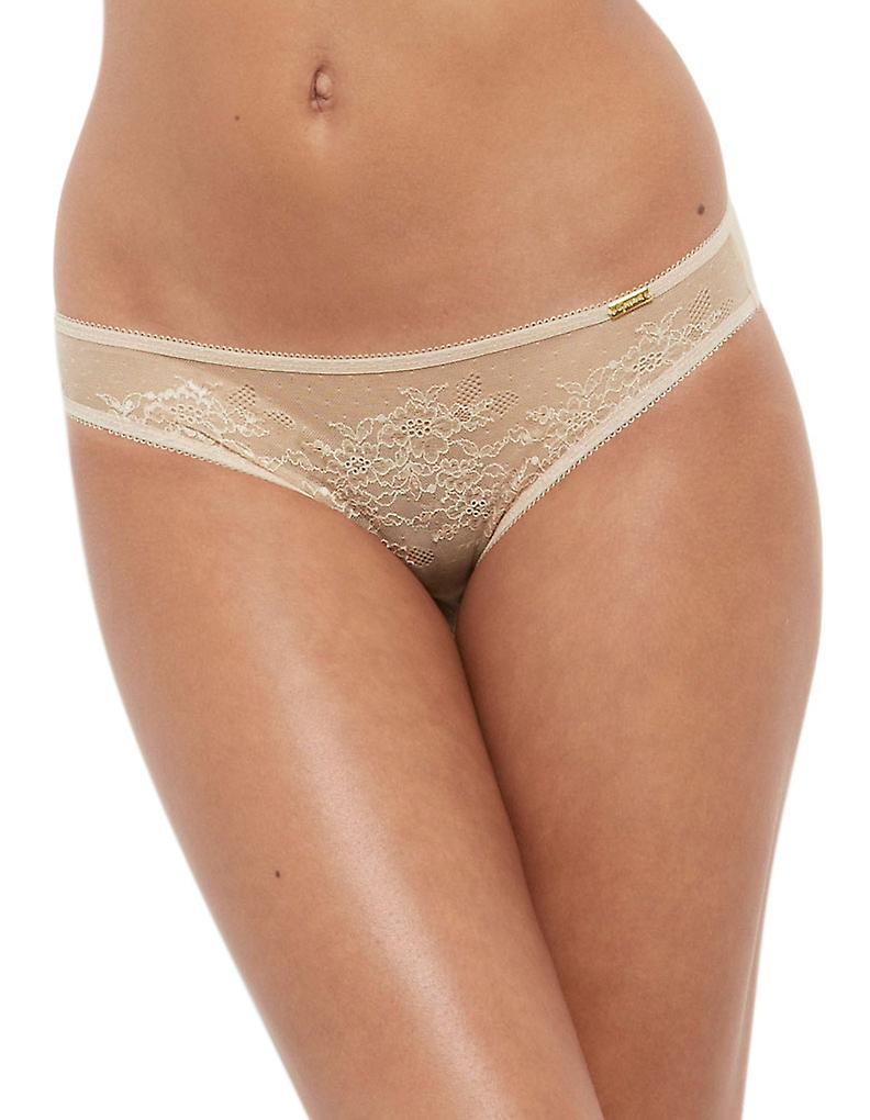 01a4a6283027 Gossard 13006 Women's Glossies Lace Nude Panty Thong | Fruugo