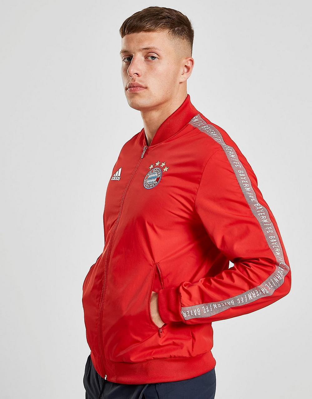 New adidas Men's FC Bayern Munich Anthem Jacket Red