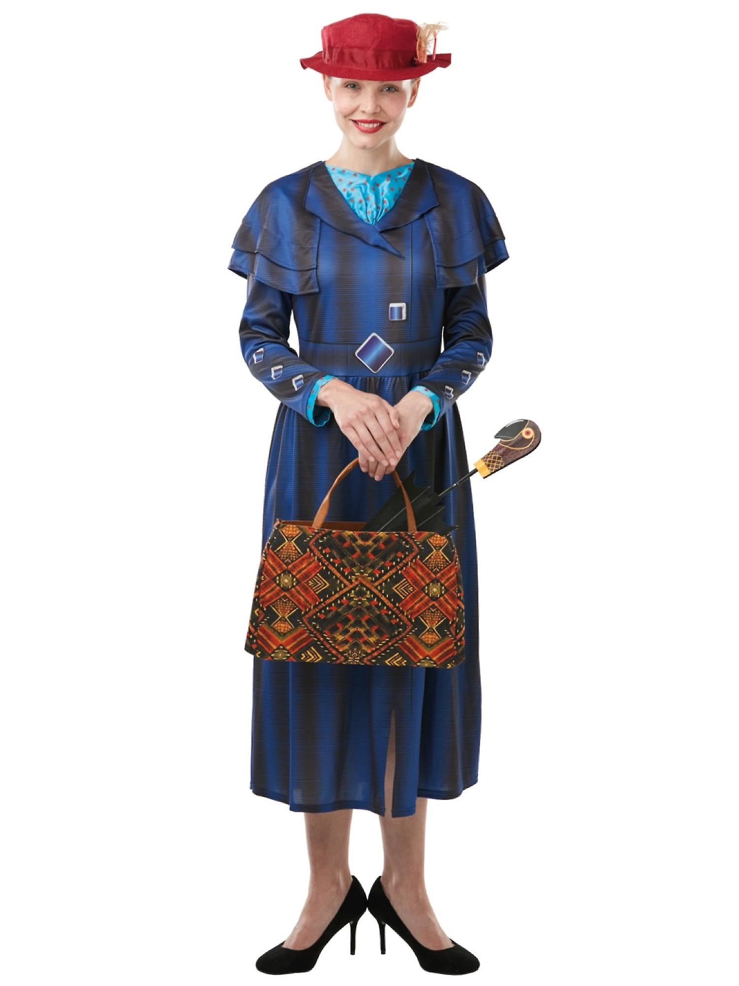 Mary Poppins Returns Deluxe Disney Movie Story Book Week Adult Womens  Costume