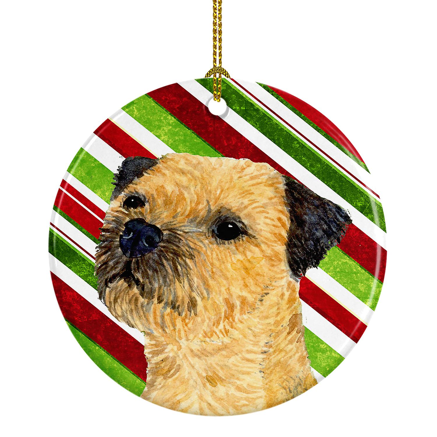 Australian Terrier Porcelain Christmas Holiday Ornament