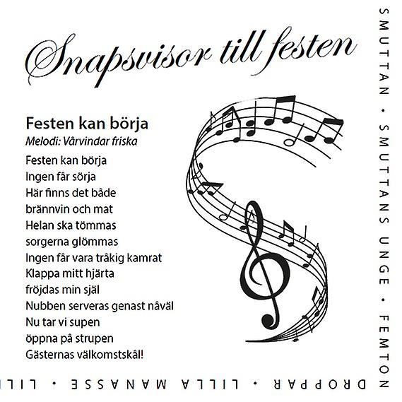 Napkin with Swedish drinking songs 2-Pack 40