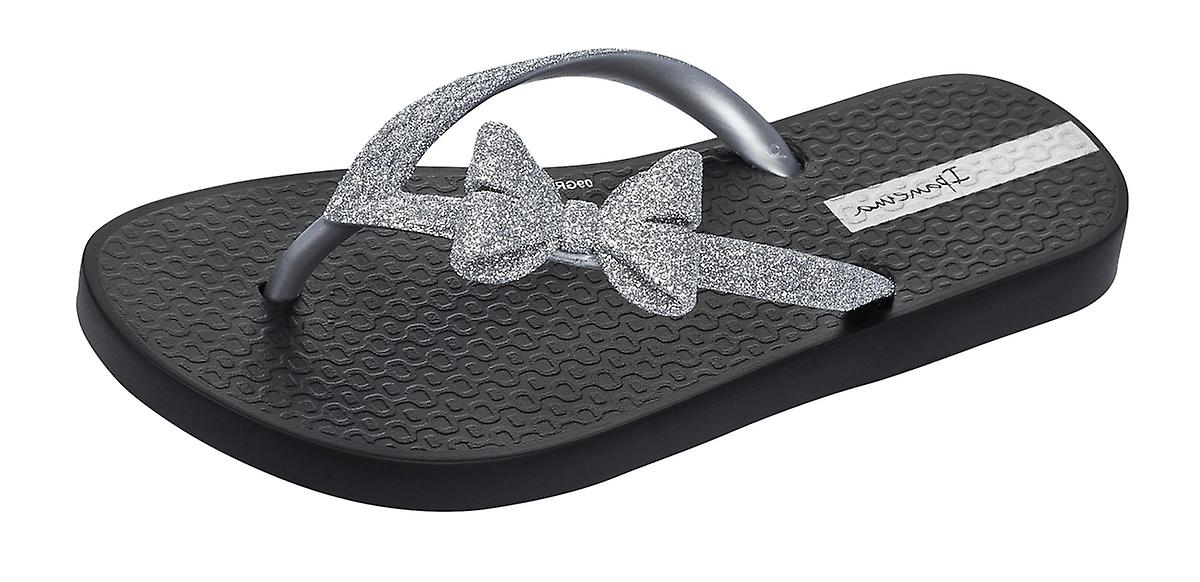 67036db85 Ipanema Sparkle Bow II Girls Flip Flops   Sandals - Black and Silver ...