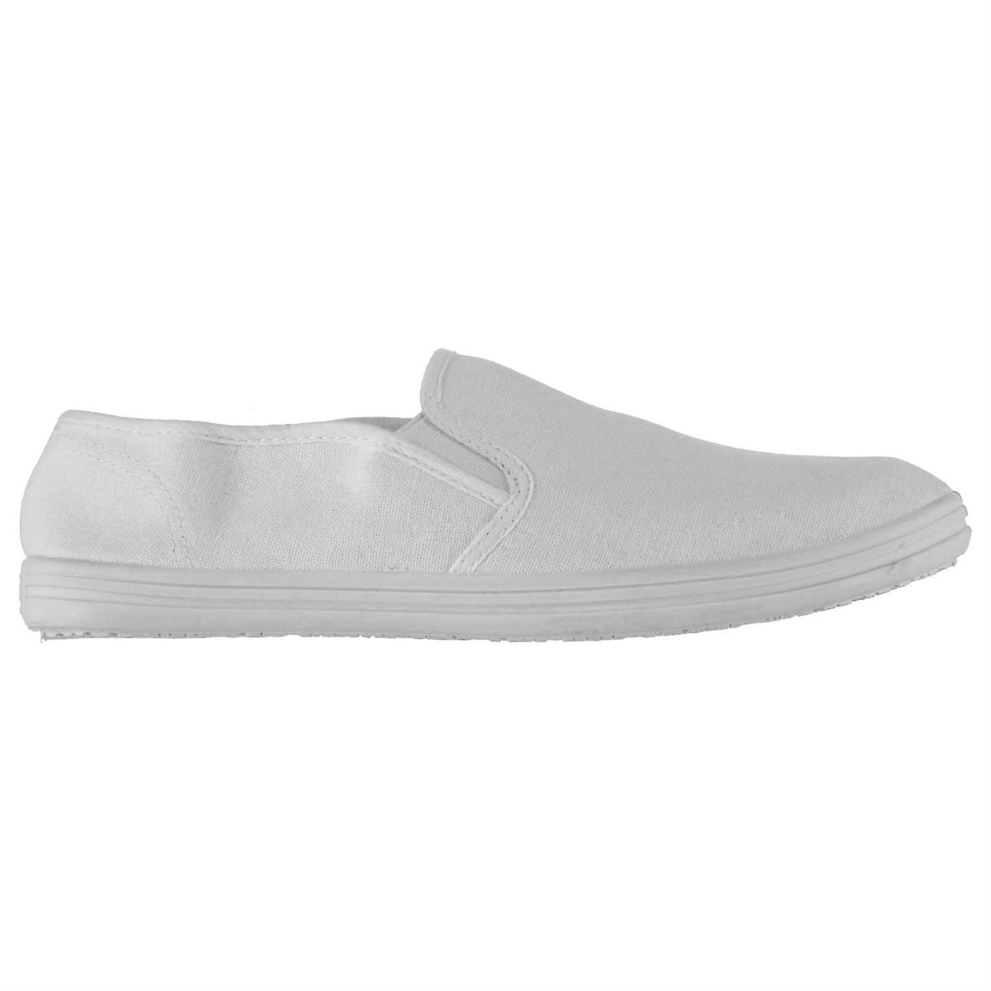 67585be3f90 Slazenger Kids Canvas Slip On Pumps Lightweight Casual Shoes Junior Boys