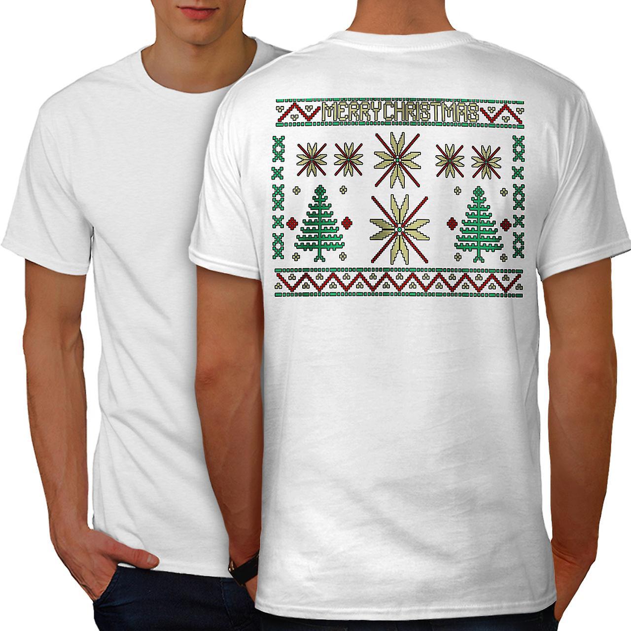 Frohe Weihnachten Hindi.Frohe Weihnachten Kunst Manner Whitet Shirt Zuruck Wellcoda