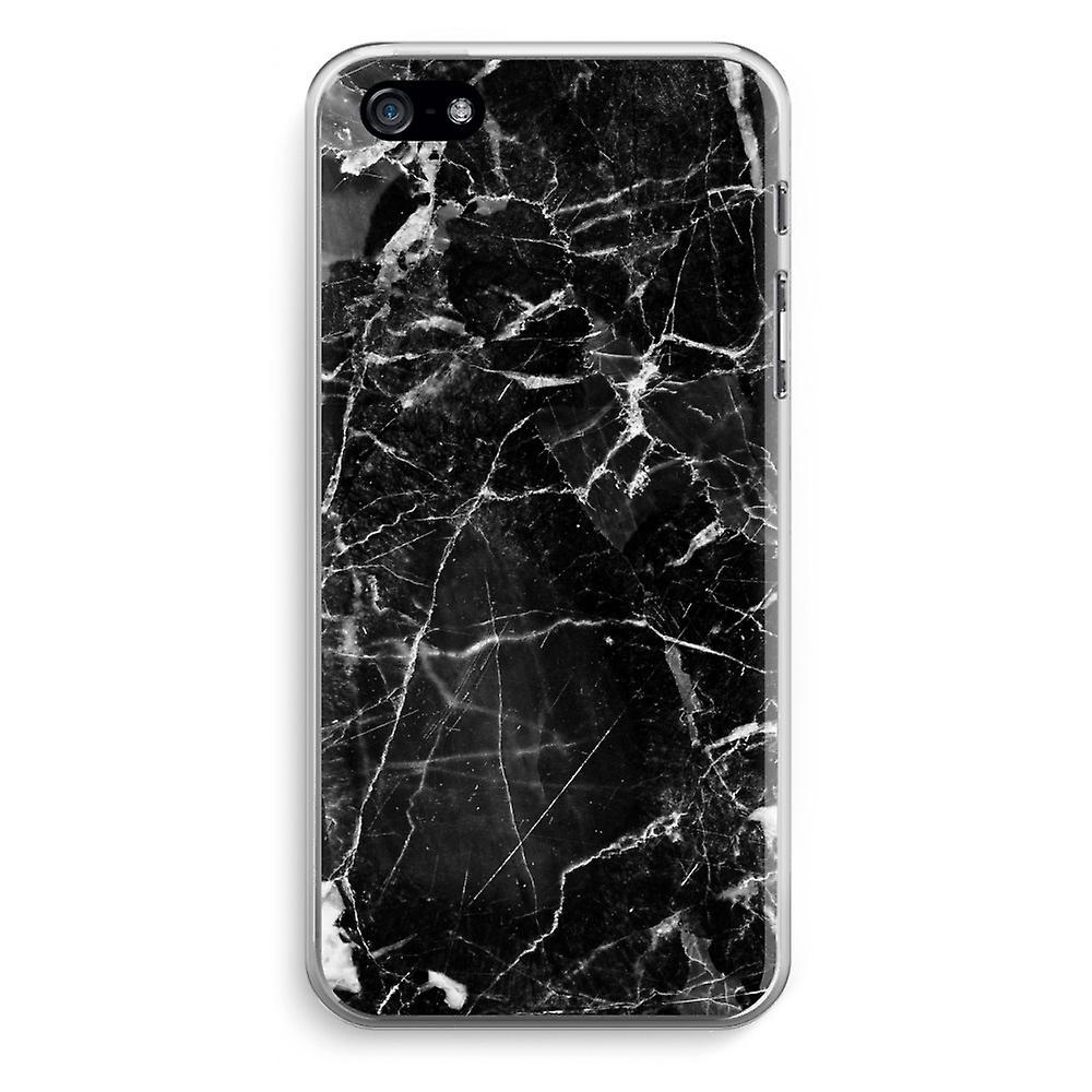 iPhone 5   5S   SE gennemsigtig sag (Soft) - sort marmor 2  0468871f3e47a