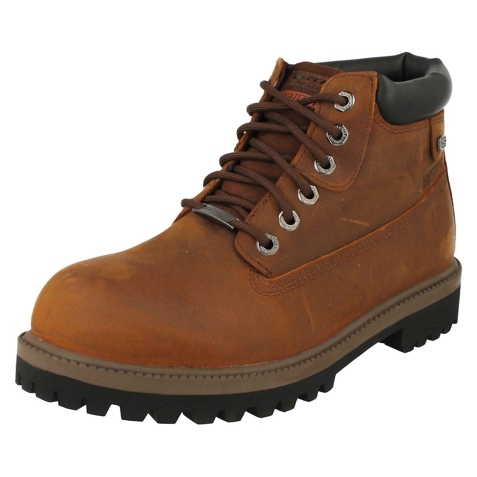 Mens Sketchers Casual Waterproof Lace Up Boots Verdict