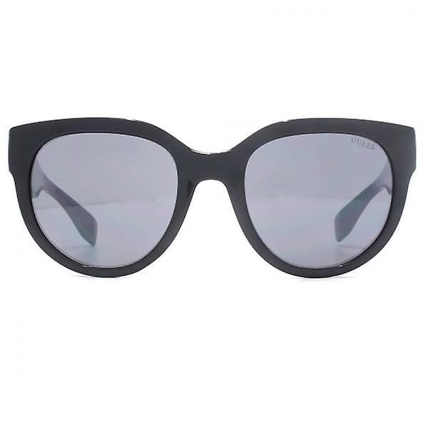 441a040fb1 Guess Triangle Logo Cateye Sunglasses In Shiny Black