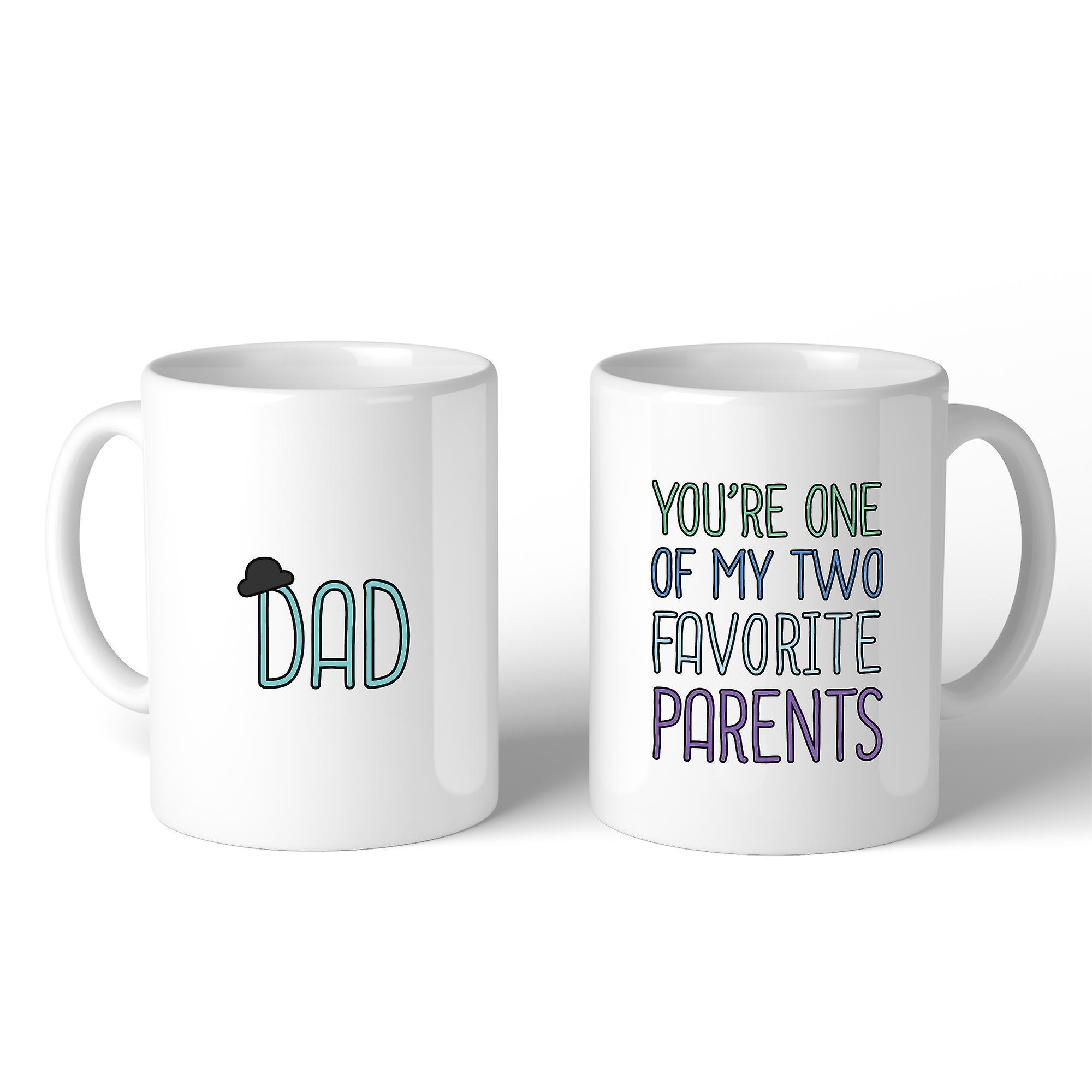 Zwei Favoriten Eltern Kaffee-Haferl für Väter Tag einzigartige Dad ...