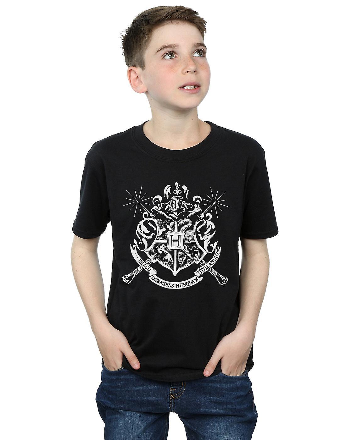 c3642f17c Harry Potter Boys Hogwarts Badge Wands T-Shirt | Fruugo