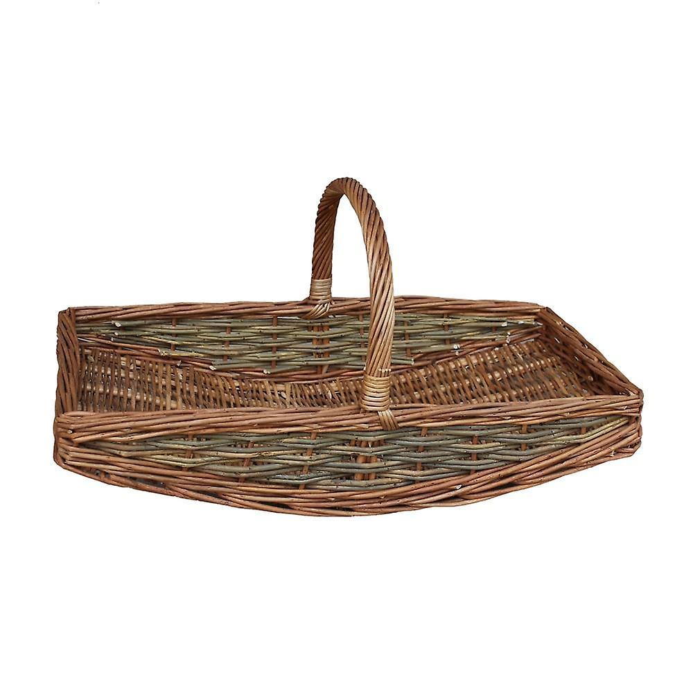 Medium Unpeeled Willow Garden Trug Basket   Fruugo