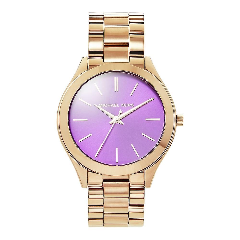 Michael Kors Watches Mk3293 Slim Runway Purple & Rose Gold Ladies Watch