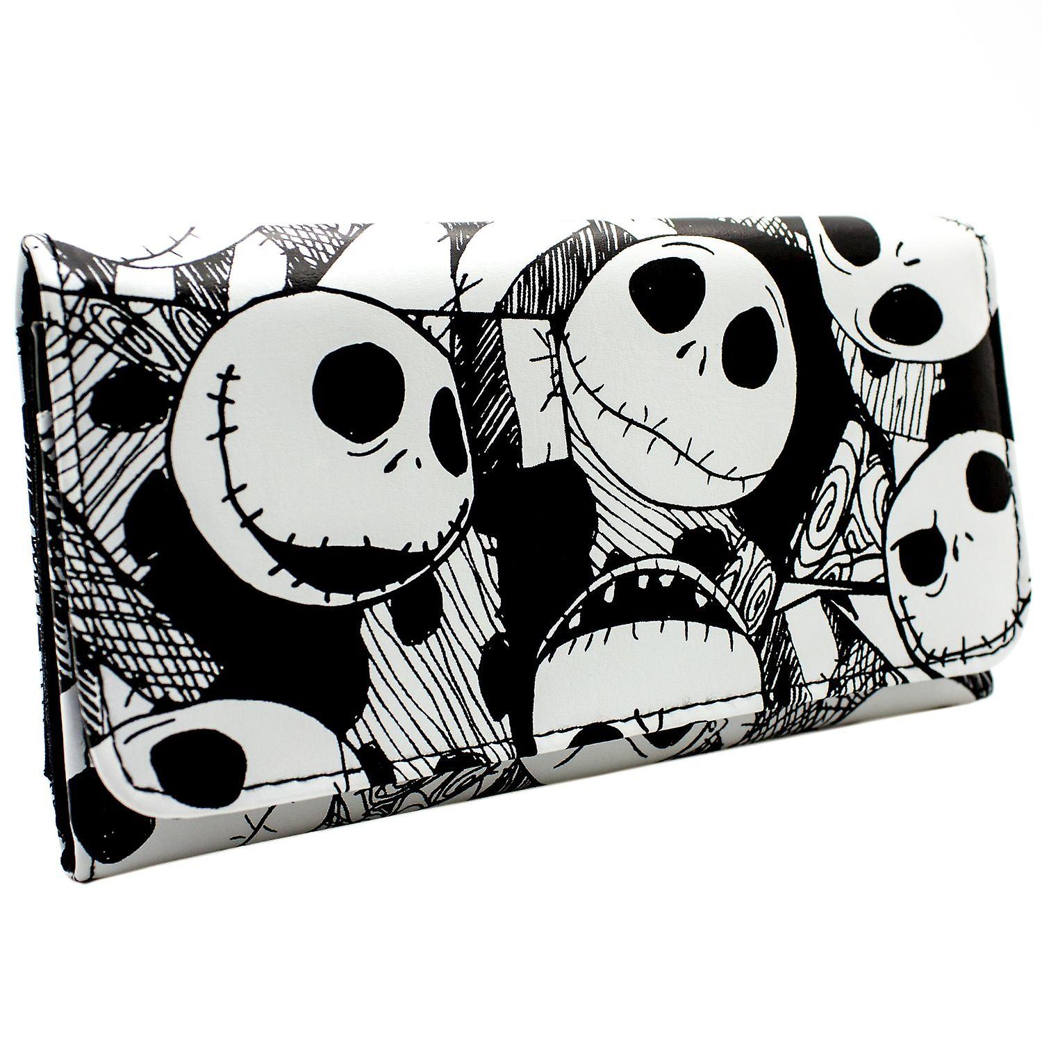 Nightmare Before Christmas Jack Heads Coin & Card Tri-Fold Purse ...