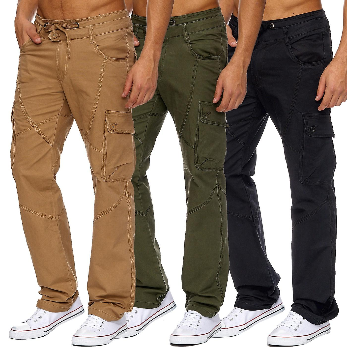 Mens Long Cargo Trousers Cargo Working Trousers Summer Bermuda