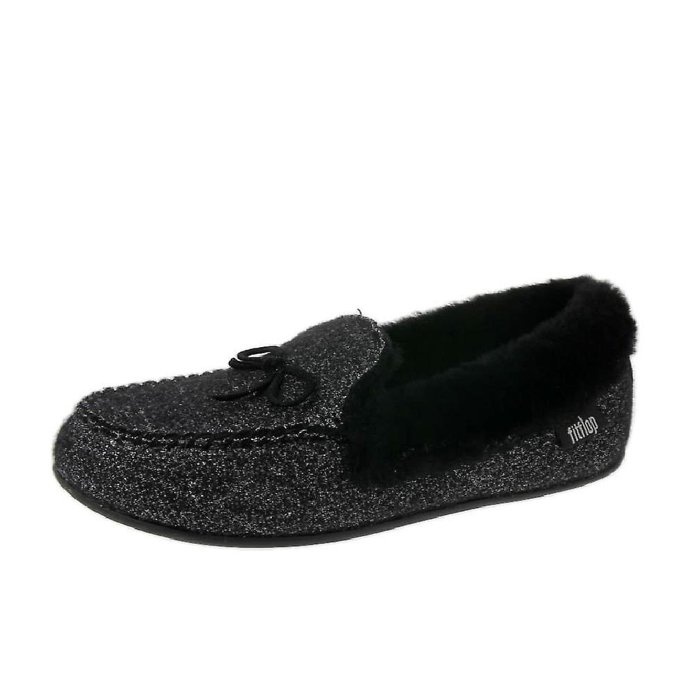 e625c618cccb FitFlop Clara Glimmerwool Moccasin Slippers