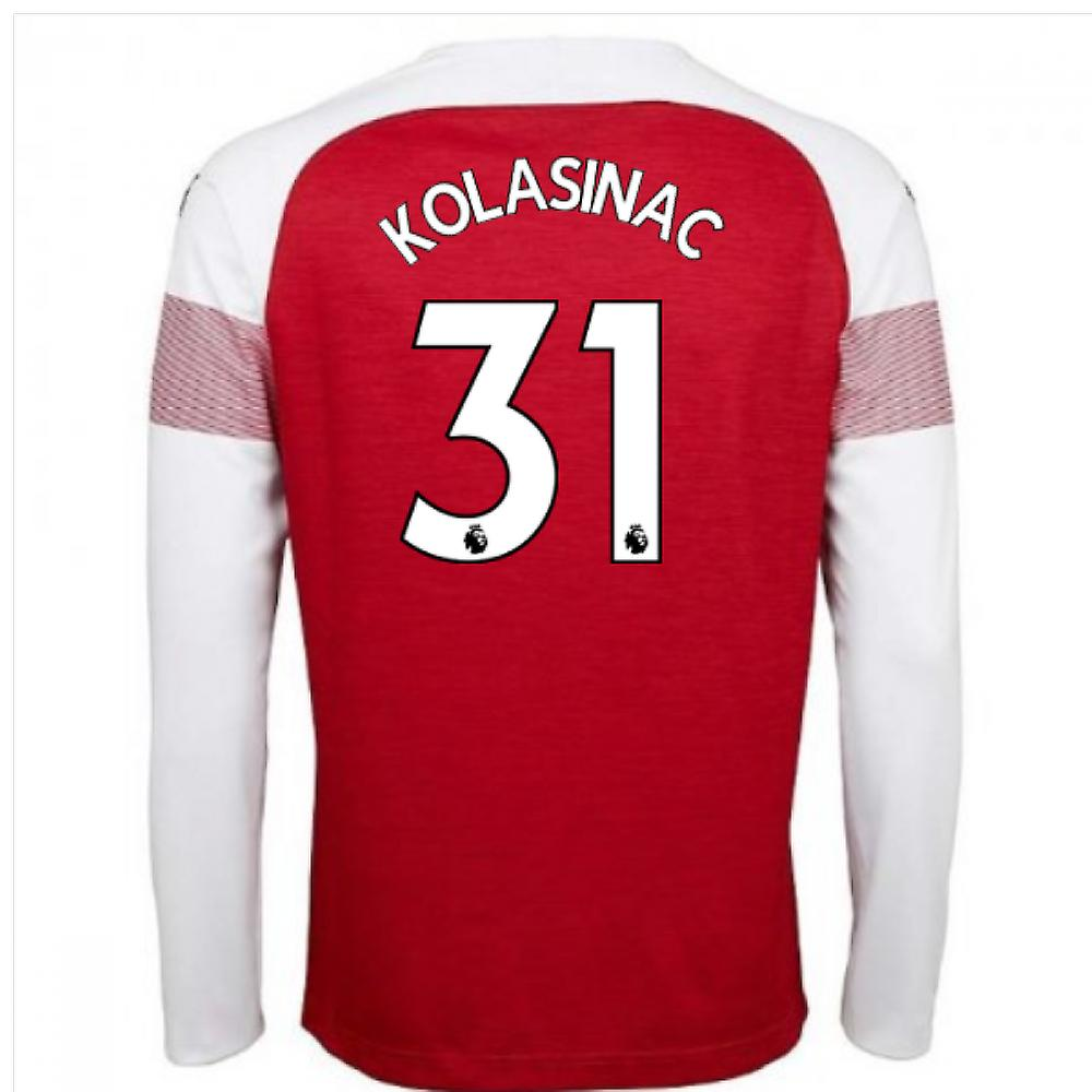 buy popular 49111 d1cff 2018-2019 Arsenal Puma Home Long Sleeve Shirt (Kolasinac 31)