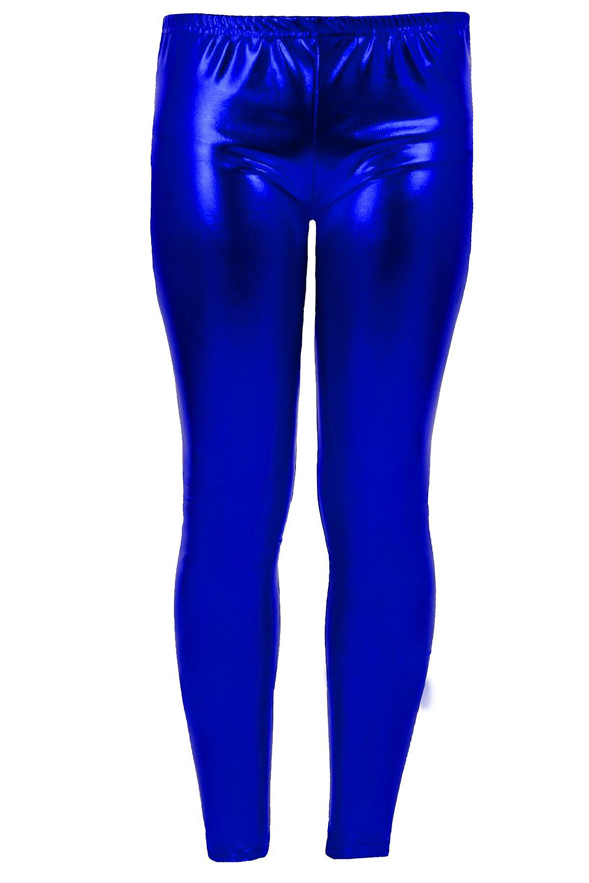 711861adf0d0f Girls Kid's Metallic Shiny Children's Wet Look Footless Party Disco Pants  Leggings