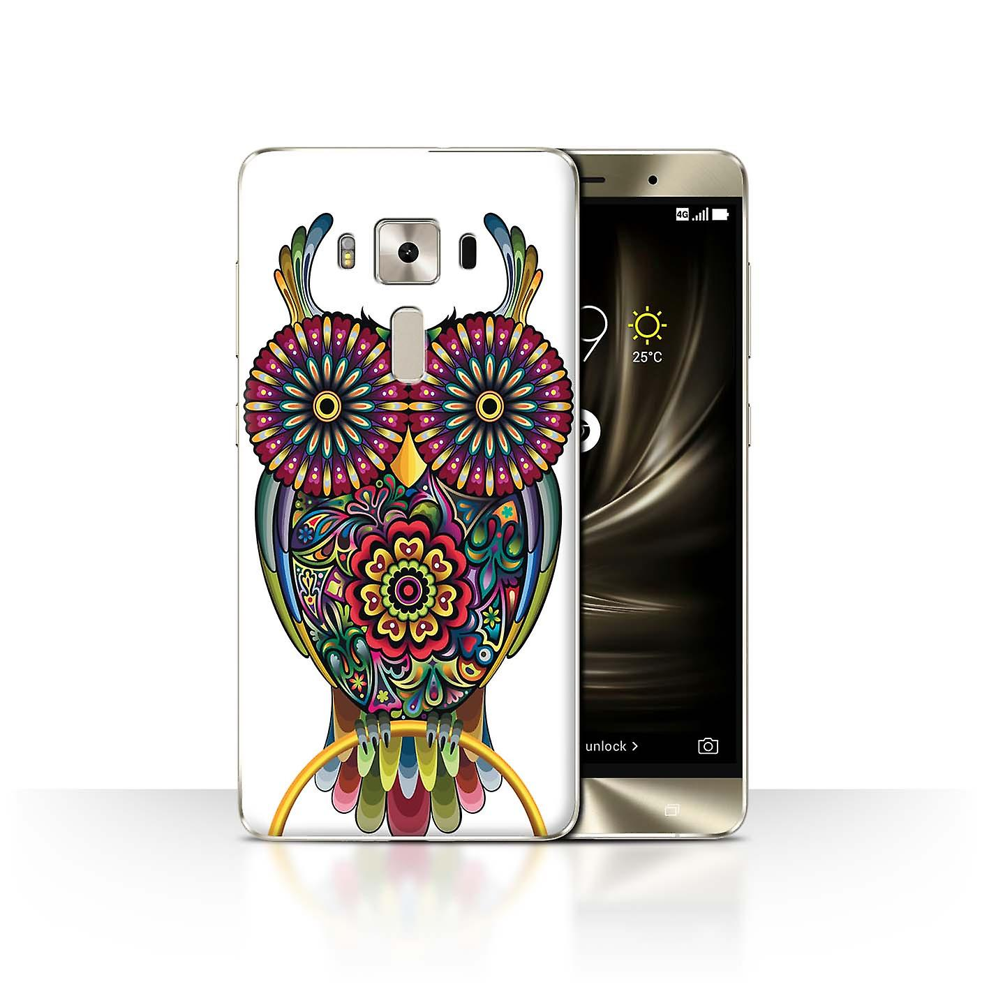 Stuff4 Case Cover For Asus Zenfone 3 Deluxe Zs570kl Owl Ornamental Animals