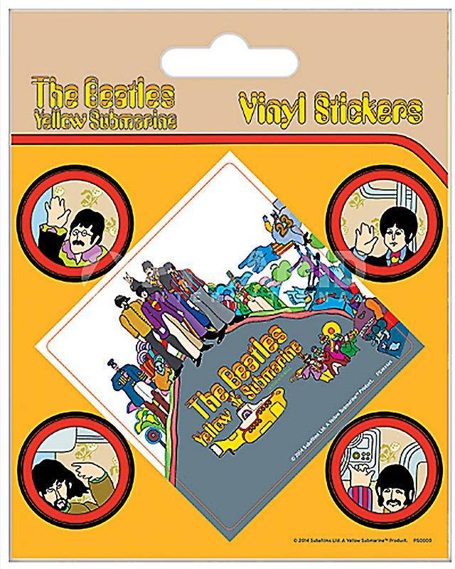 Beatles Yellow Submarine Vynil Car Sticker Decal Select Size